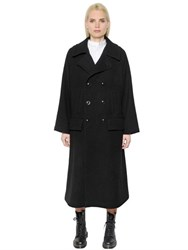Y's Double Breasted Wool Drill Coat