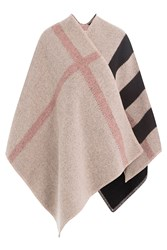 Burberry Shoes And Accessories Checked Wool Cape With Cashmere Multicolor