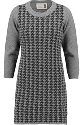 8 Intarsia Knit Wool Blend Tunic Gray