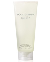 Dolce And Gabbana Light Blue Energy Body Bath And Shower Gel 6.7 Oz