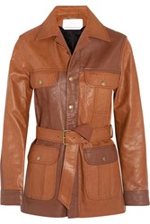 Chloe Belted Leather Jacket Tan