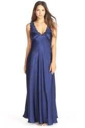 Jonquil 'Taylor' Satin Nightgown Blue
