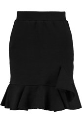 Goen J Ruffled Jersey Mini Skirt Black