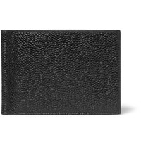 Thom Browne Pebble Grain Leather Wallet With Money Clip Black