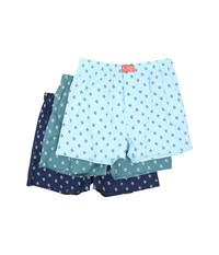Original Penguin 3 Pack Boxers Light Blue Turquoise Dark Blue Men's Underwear Multi