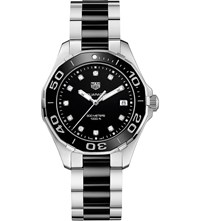 Tag Heuer Way131c.Ba0913 Aquaracer Stainless Steel Ceramic And Diamond Watch Black