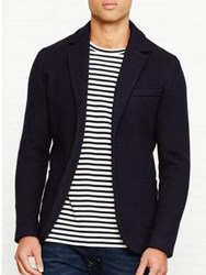 Reiss Charlie Boiled Wool Blazer Navy