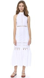 Jonathan Simkhai Track Maxi Dress White