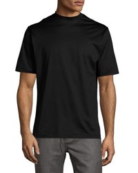 Peter Millar Mercerized Cotton T Shirt Black