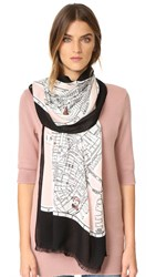 Kate Spade New York Map Oblong Scarf Au Natural