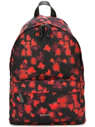 Givenchy Abstract Print Backpack Black