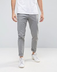 Selected Homme Skinny Fit Chino With Stretch Light Grey