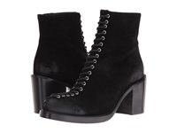 Mcq By Alexander Mcqueen Clapton Eyelet Lace Black Split Suede Women's Lace Up Boots