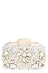 Natasha Couture 'Vintage Stone' Clutch Blush Multi