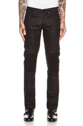 Belstaff Blackrod Stretch Denim Biker Pant In Black