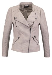 Only Onlava Faux Leather Jacket Ash Grey