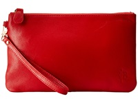 Mighty Purse Goat Leather Charging Wristlet Ruby Red Handbags