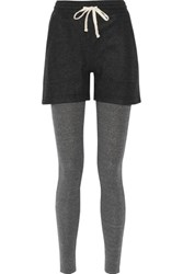 Nlst Layered Wool And Cashmere Blend Leggings Dark Gray