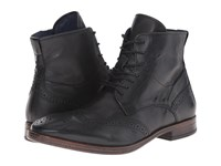Dune Cobbler Dark Grey Leather Men's Lace Up Boots Gray