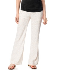 A Pea In The Pod Maternity Under Belly Wide Leg Linen Blend Pants