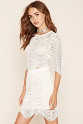 Forever 21 Sheer Striped Crop Top