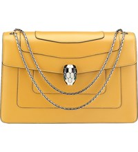 Bulgari Serpenti Forever Leather Shoulder Bag Sunflower Citrine