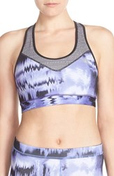 Adidas Women's 'Techfit Brushed Glitch' Climalite Sports Bra Unity Purple Print