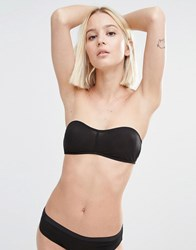 Weekday Amy Mesh Bandeau Bra Black