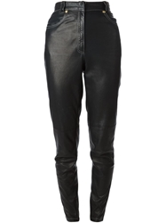 Gianni Versace Vintage Leather Trousers Black