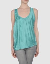 Amy Gee Tops Turquoise