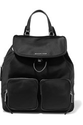 Michael Michael Kors Cara Leather Trimmed Shell Backpack Black