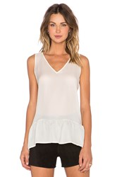 The Great The V Neck Flounce Tank Cream