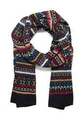 Forever 21 Fair Isle Striped Knit Scarf