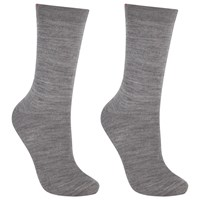 John Lewis Merino Wool Mix Ankle Socks Pack Of 2 Grey