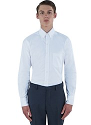Thom Browne Striped Placket Classic Oxford Shirt White
