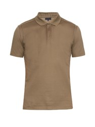 Lanvin Deconstructed Cotton Pique Polo Shirt Khaki