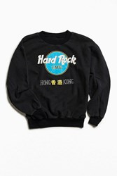 Urban Outfitters Vintage Hard Rock Cafe Hong Kong Crew Neck Sweatshirt Black