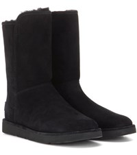 Ugg Abree Short Ii Fur Lined Suede Ankle Boots Black