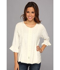 Scully Honey Creek Cherie Blouse Ivory Women's Blouse White