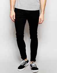 Pull And Bear Pullandbear Super Skinny Jeans In Black Black