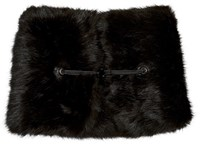 Carven Black Faux Fur Collar