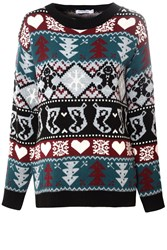 Alice And You Gingerbread Motif Jumper Multi Coloured