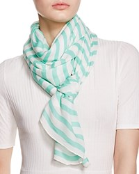 Kate Spade New York Bow Striped Scarf Mint Liqueur