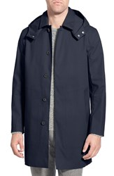 Men's Mackintosh Waterproof Trench Raincoat With Removable Hood And Lining