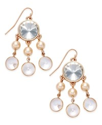 Charter Club Rose Gold Tone Imitation Pearl Chandelier Earrings Only At Macy's