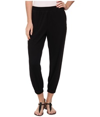 Hue Chill Jersey Capri Black Women's Casual Pants