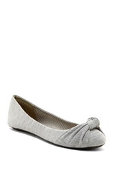 Charles Albert Knotted Ballet Flat Gray