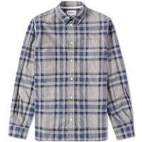 Norse Projects Hans Brushed Check Shirt Grey