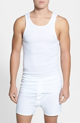 Nordstrom Supima Cotton Athletic Tank 4 Pack White
