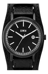 Women's Edwin Leather Cuff Watch 38Mm